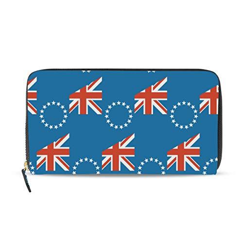 Cartera de Piel con diseño de Bandera de Las Islas Cook
