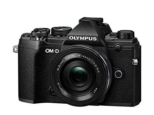 Olympus OM-D E-M5 Mark III Micro Four Thirds Systemkamera Kit (20 MP Sensor, 5-Achsen Bildstabilisator, Autofokus, elektronischer OLED Sucher, 4K-Video, WLAN, schwarz) + 14-42mm M.Zuiko Objektiv