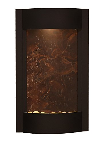 Serene Waters Water Feature with Multi-Color FeatherStone (Textured Black)