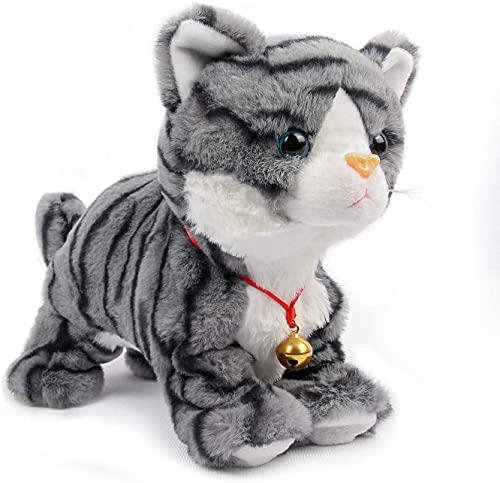 Juguetes de Peluche, Smalody Novedad Control de Sonido Gato electrónico Juguetes interactivos Mascotas electrónicas Gato Robot, Gato robótico Ladrando Miau Gatito Control táctil para niños Niños