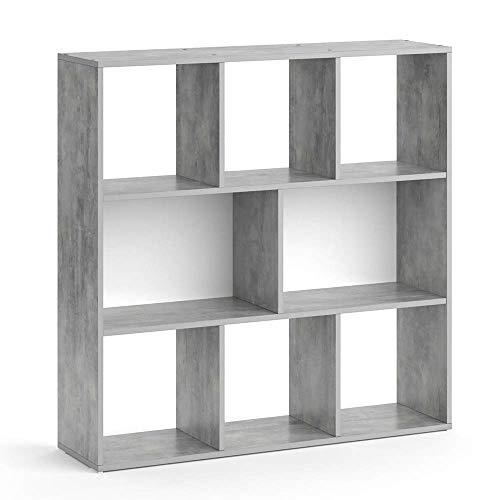 Vicco Raumteiler Arya 8 Fächer Bücherregal Wandregal Standregal Regal (Beton, 8 Fächer)