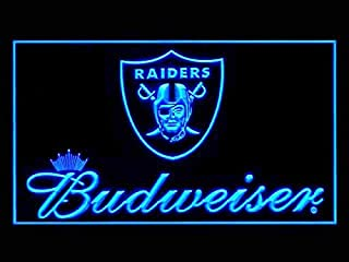 Oakland Raiders Budweiser Led Light Sign