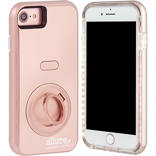 Case-Mate iPhone 7 Case - Allure Selfie - LED Selfie Light Illuminated Cell Phone Case - Rose Gold (Compatible with iPhone 6/6S )