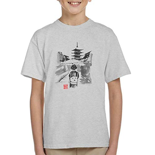 Cloud City 7 Geisha Woman Holding Umbrella Kid's T-shirt