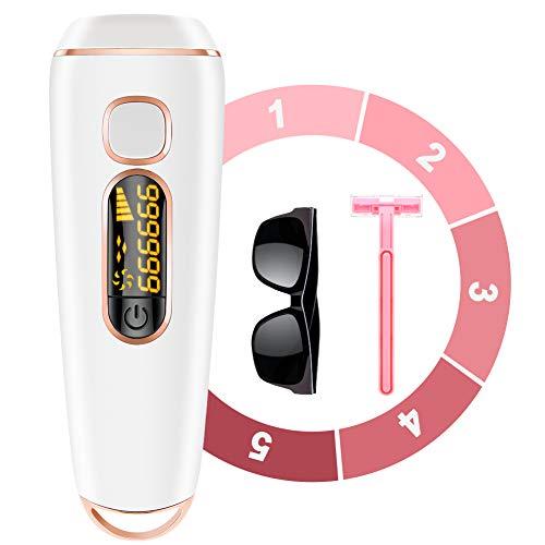 OLEKEIPL Haarentfernungsgerät dauerhafte schmerzlose Haarentferner999999 Flash 5-stufige Haarentfernung für Körper Gesicht Achselhöhlen usw Verfügbar für Männer und Frauen