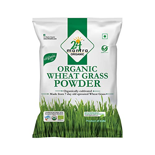 24 Mantra Organic Wheat Grass Powder, 100g