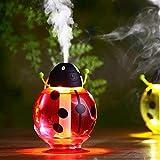 Qinsling Be A4 Aroma Diffusore 100 Ml con 7 Colori LED Umidificatore Materiale di Vetro per Salone di Bellezza/Yoga/Camera da Letto/Sala Riunioni Biabeetle USB Mini