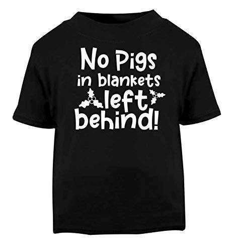 Flox Creative T-Shirt pour bébé Motif No Pigs in Blankets Left Derrière - Noir - 2 Ans