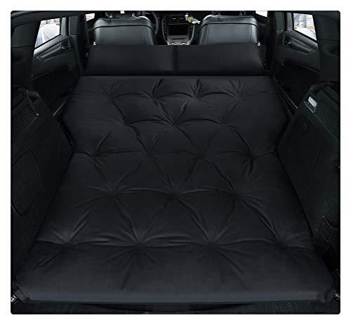 Cama inflable for coche, SUV, colchón for coche, fila, cojín for dormir de viaje en coche, cama de aire todoterreno, colchoneta for acampar, colchón de aire, colchón de aire ( Color : Double-Black )