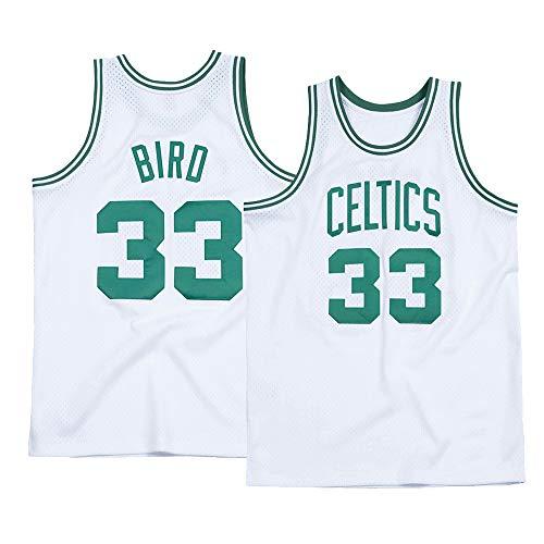 Men's Bird Jersey 33 Boston Adult Basketball Larry White (Large)