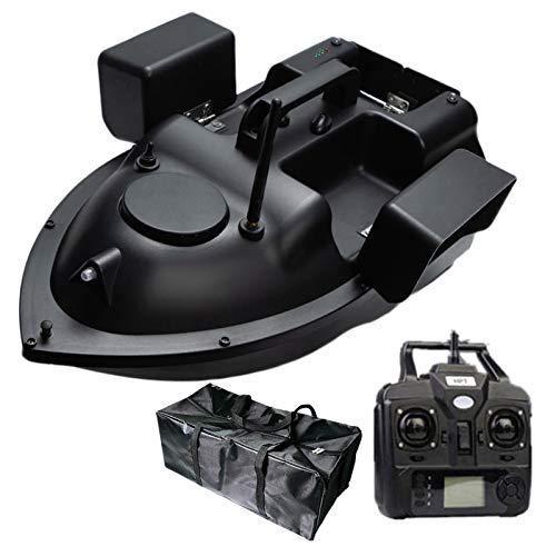 RC Bait Boat Radio GPS 500M Barco de Control Remoto 3 almacenes Grande Capacidad, Finder de Pescado con Motor Doble,12000mAh