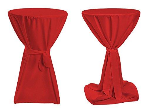 Stehtischhussen Premium (Farbe & Durchmesser nach Wahl) - Rot 70cm Durchmesser