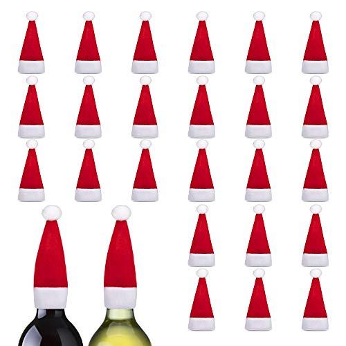 Nasjac Mini Christmas Santa Hats 24PCS, Rojo y Blanco, Soporte para Cubiertos...