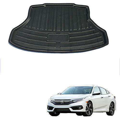 Car Auto Boot Cargo Liner Alfombrilla Trasera para el Suelo del Maletero Alfombras para bandejas Alfombrillas para Alfombrillas para Honda Civic Sedan 2012 2013 2014 2015