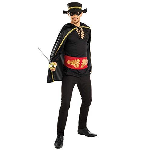 Fun Shack Mens Senor Bandit Costume Adults 90s Movie Spanish Caped Fancy Dress - Large