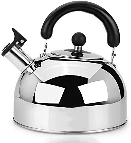 SXDYJ Tetera de té de Plata 6L, Tetera de Silbato de Acero Inoxidable de Grado alimenticio con Mango ergonómico Resistente al Calor y Fondo Compuesto