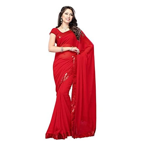 ca27b81719 Plain Red Saree: Buy Plain Red Saree Online at Best Prices in India ...