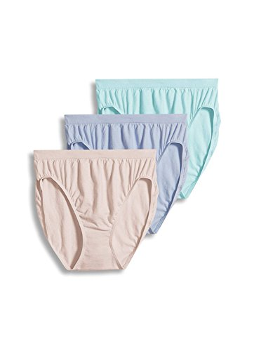 Jockey Women's Underwear Comfies Cotton French Cut - 3 Pack, Soft Periwinkle, 8
