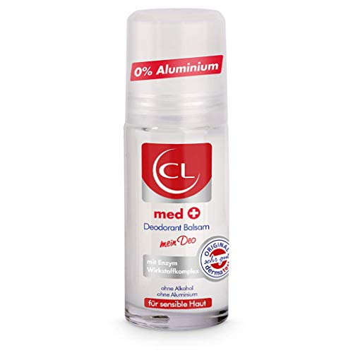 CL med + Deodorant Balsam für sensible Haut - 50 ml Deo Roller ohne Aluminium & Zink bietet aktiven Schutz & sanfte Pflege - Deo Herren & Damen - Deoroller Männer & Frauen