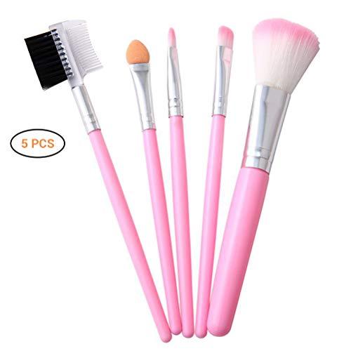 Ourine 5 pcs pinceaux de Maquillage Professionnel Fibre Artificielle Brosse à Cheveux Poudre Fard à paupières Cils Joue Brosse Ensemble Outil cosmétique