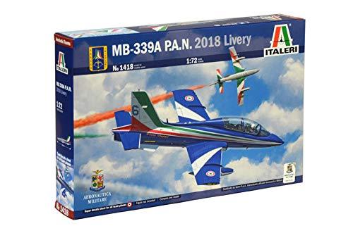 Italeri 1418 MB-339A PAN 2018 livery Model Kit aereo Frecce Tricolori plastica Scala 1:72
