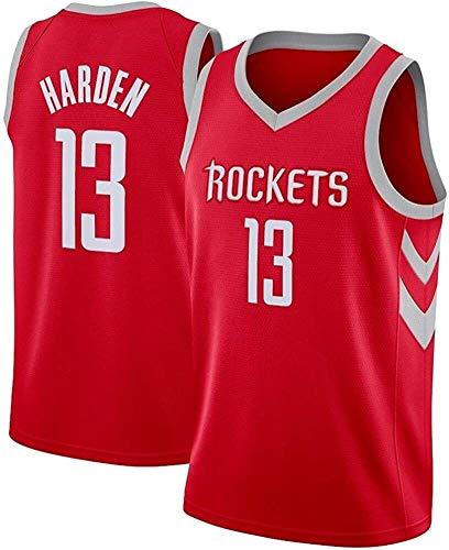 Baloncesto de Jersey James Harden # 13 de Baloncesto Jersey, Uniforme de Baloncesto Houston Rockets, Transpirable y de Secado rápido del Ventilador Sudadera, Camiseta sin Mangas XS-XXL