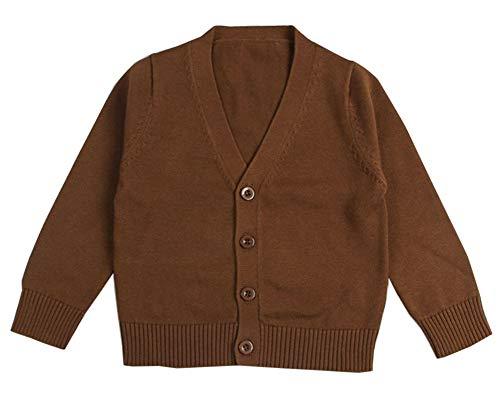 Cuello V Suéter de para Bebés Niño y Niña Jersey de Punto Cárdigan Suéter Manga Larga Tops