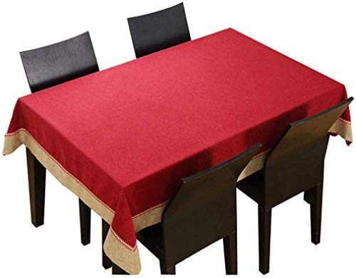 RR&LL textiel tafelkleed Chinese effen kleur mahonie doek klassieke rechthoekige salontafel doek woonkamer tafelkleed (Maat: 140180cm)