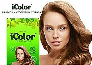 iColor Hair Dye Shampoo Light Brown 30ml per sachet (1.014 ounces) x 10 pcs in a box, shampoo-in hair color, dye, light brown hair-in 20-30 minutes