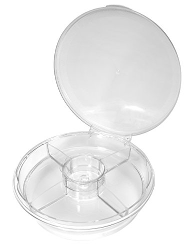 CreativeWare COOL-SPN Spin On Ice Serving Tray, Clear