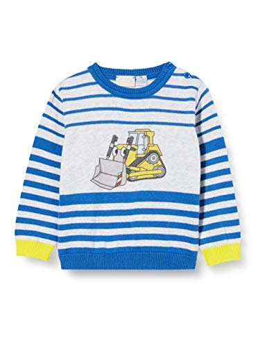 Chicco Baby-Jungen Maglioncino In Tricot Bimbo Pullover, Blau (Blu Giallo 085), 74 (Herstellergröße: 074)