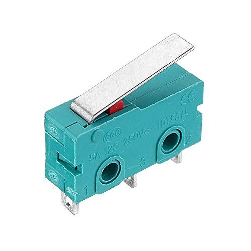 OverTop 3 piezas KW4-3Z-3 vástago recto 3D Pritner 3pin Micro Endstop Switch Limit SS-5GL
