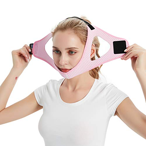 CLEVISS BRACE Anti Snoring Devices Chin Strap for CPAP Users and Mouth Breathers - Advanced Solution Stop Snore Sleep Aid for Women and Men (Pink)