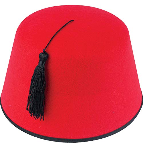 German Trendseller® Aladdin -Fez Hut - Rot - Deluxe ┃ Accessoire ┃ Karneval - Party ┃ Premium - Hut