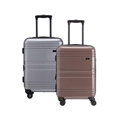 CARPISA Juego de 2 maletas rígidas ampliables con cuatro ruedas y candado TSA Delicious