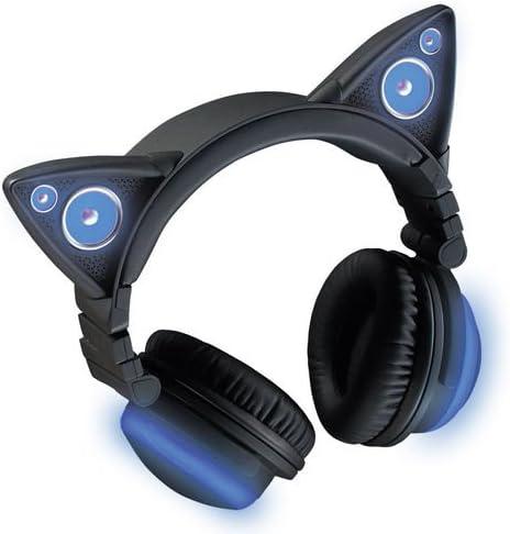 Axent Wear 317857 Kopfhörer Katzenohren Bluetooth Kabellos Mit Lautsprecher Und 8 Austauschbare Farben Spielzeug
