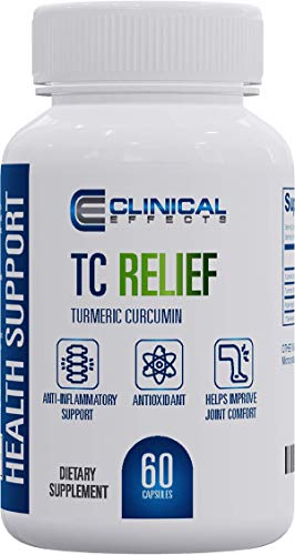 Clinical Effects: TC Relief - Turmeric Curcumin with Bioperine Black Pepper Joint Supplement for All-Natural Alternative Pain Relief and Immune Support - 60 Capsules - Max Absorption - Made in the USA