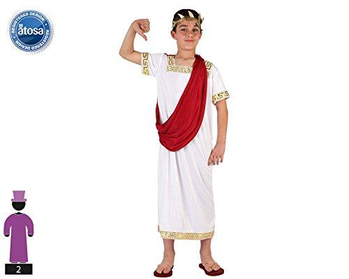 Atosa-6605 Costume-Déguisement Romain 7-9, Garçon, 6605, ROUGE, De 7 à 9 ans