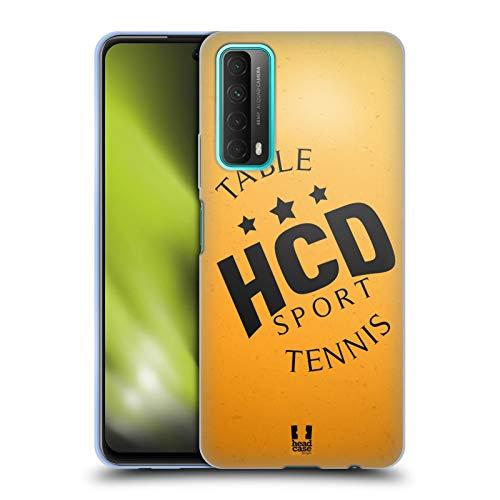 Head Case Designs Ping-Pong Colección de Bolas 2 Carcasa de Gel de Silicona Compatible con Huawei P Smart (2021)