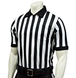 Smitty   FBS-100   Performance Mesh Short Sleeve Referee Shirt   1' Stripe   Moisture Management   Football Lacrosse   Official's Choice! (4XL)
