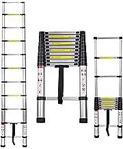 3.2m/10.5ft Aluminium Ladder Telescopic Extendable Ladder 9 Steps Folding Easy to Carry,Light Weight 9.2kg