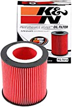 K&N Premium Oil Filter: Designed to Protect your Engine: Compatible with Select BMW Vehicle Models (See Product Description for Full List of Compatible Vehicles), PS-7014