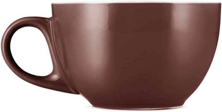Import Espresso Parts Premium 12oz Latte Cups with I C of Saucers Set 2 Great interest