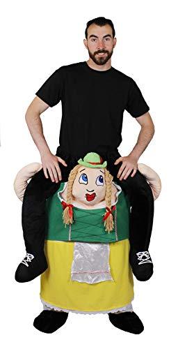 ILOVEFANCYDRESS Disfraz A Hombros DE Mujer Bavaria para Adultos con Sombrero Verde Estilo BAVARIO