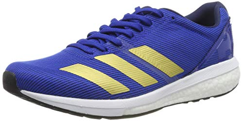 adidas Herren Adizero Boston 8 m Laufschuhe, Blau (Collegiate Royal/Gold Met./FTWR White Collegiate Royal/Gold Met./FTWR White), 42 EU