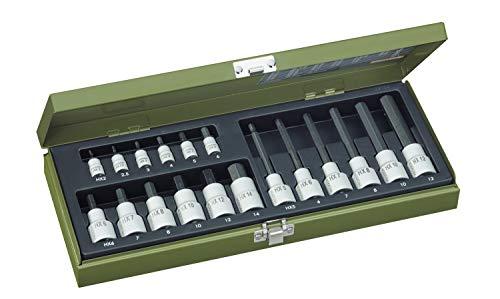 """PROXXON Spezialsatz für Innensechskantschrauben, Für 1/4\""""-Vierkantantrieb und 1/2\""""-Vierkantantrieb, 18-teiliges Werkzeug-Set mit Stahlkasten, 23100"""