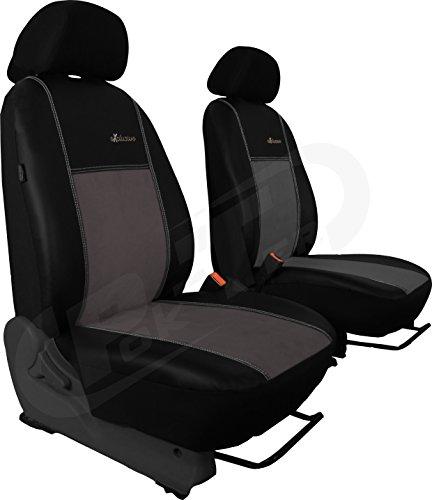 POKTER-ALC Auto Sitzbezüge Alkantra Exclusive (1+1 Fahrersitz + Beifahrersitz) Super Qualität passend für A-Klasse W168,W169 Farbe grau (In 5 Farben bei Anderen Angeboten erhältlich)