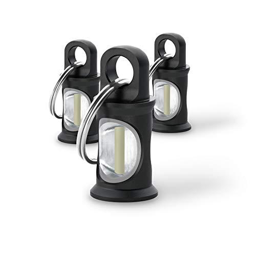KHS TRIGATAG® KHS.TTBLAOT.SR3 Anhänger schwarz mit H3-Tritium-Gaslichtquelle 3farbig, inkl. Schlüsselring, 3er Set
