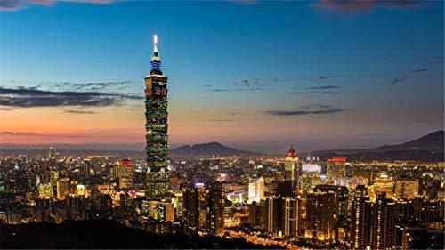 Rompecabezas De 1000 Piezas Para Adultos, Noche En Taipei, Vista De La Ciudad, Luces Nocturnas, Juguete Educativo Para Niños Y Adultos, Ensamblaje De Madera