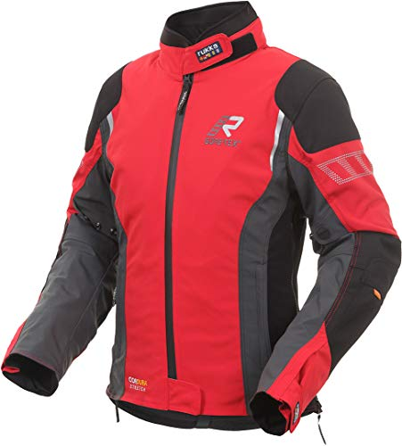 Rukka Gore-Tex Motorradjacke Elastina rot für Damen Cordura D3O Evo Protektoren, 40